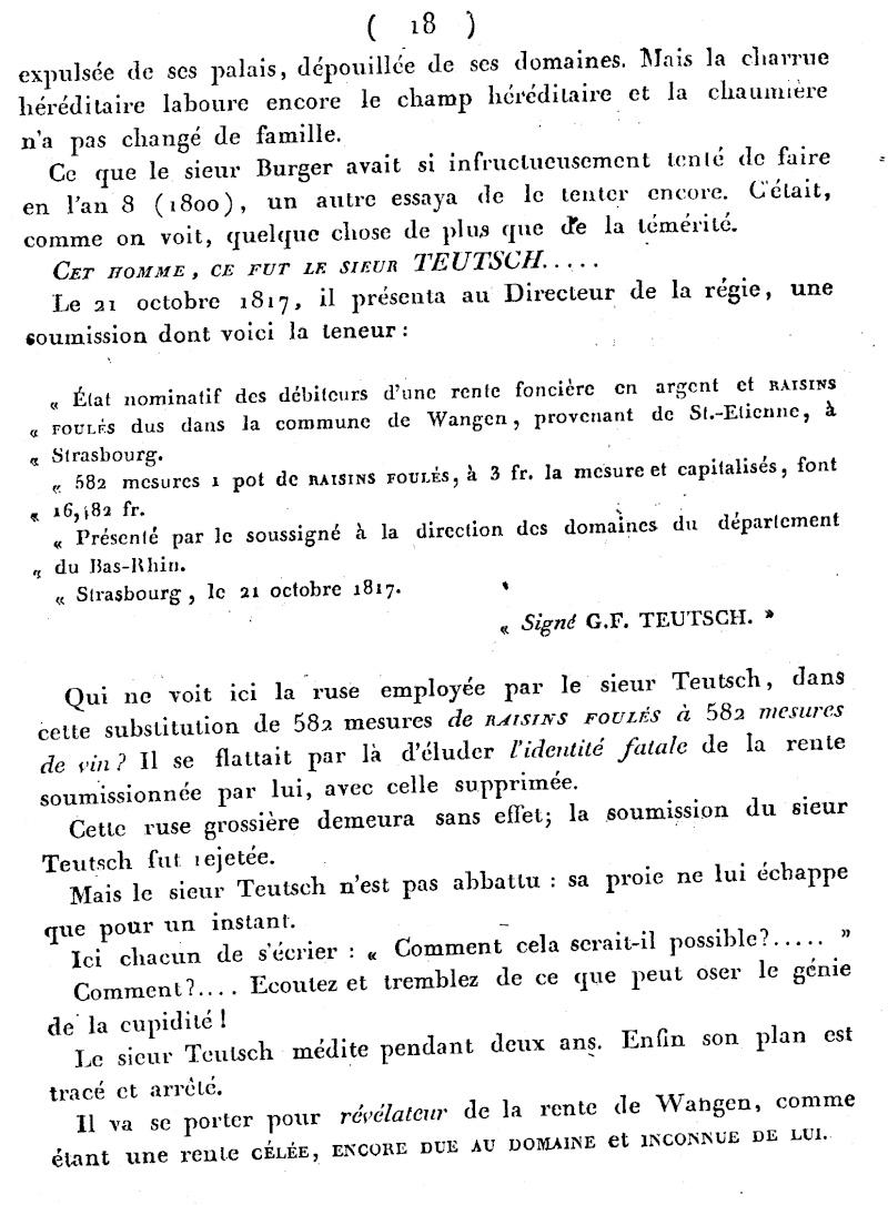 Mémoire d'un procès qui fit couler beaucoup de vin...à Wangen Numari24