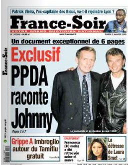 Exclusif - Le journaliste vedette PPDA raconte Johnny Hallyday 2010-014