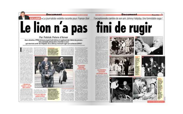 Exclusif - Le journaliste vedette PPDA raconte Johnny Hallyday 2010-015