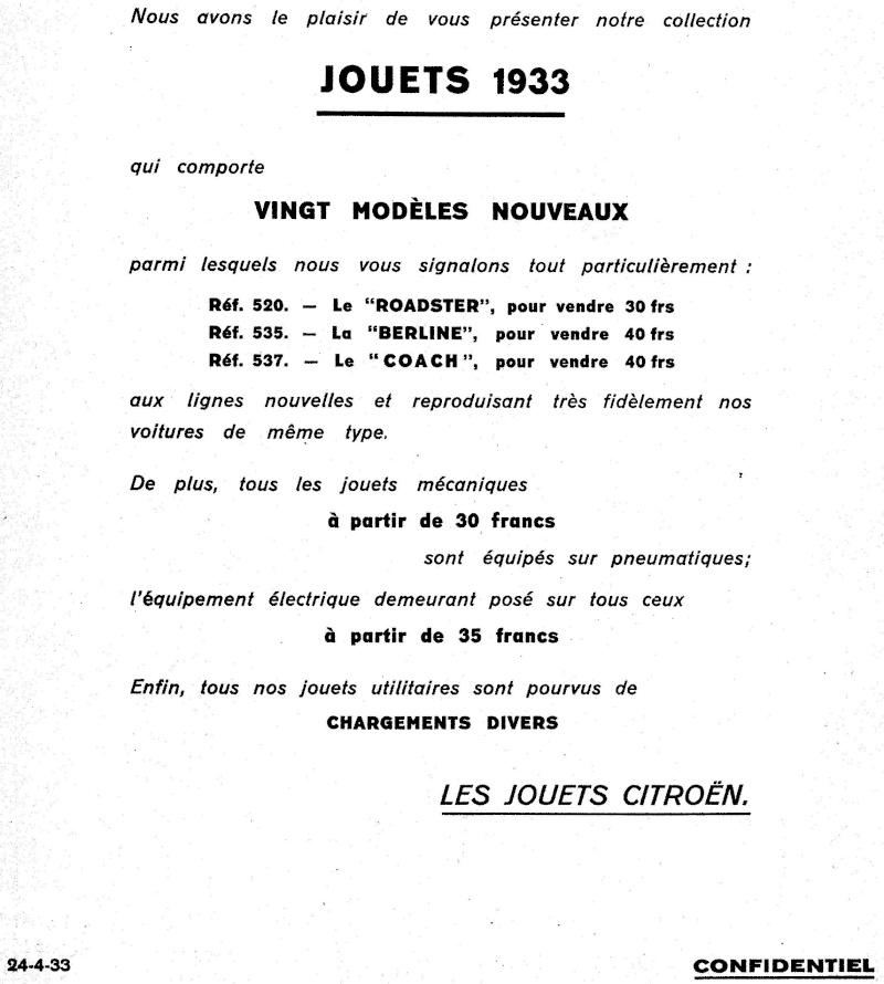 Citroën, les jouets : catalogue 1935 Tarif_11