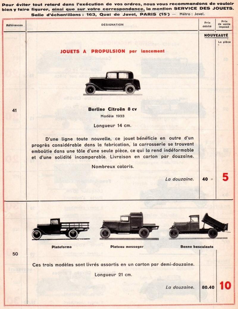 Citroën, les jouets : catalogue 1935 Tarif_13