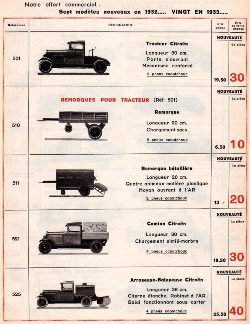 Citroën, les jouets : catalogue 1935 Tarif_15