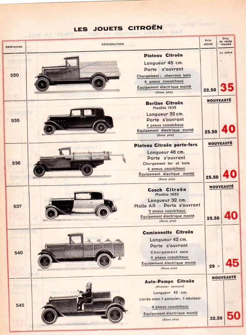 Citroën, les jouets : catalogue 1935 Tarif_16