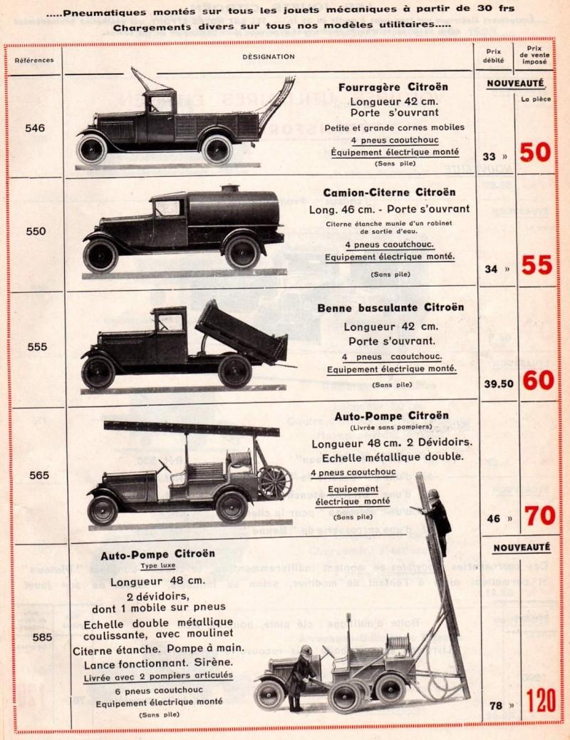 Citroën, les jouets : catalogue 1935 Tarif_17