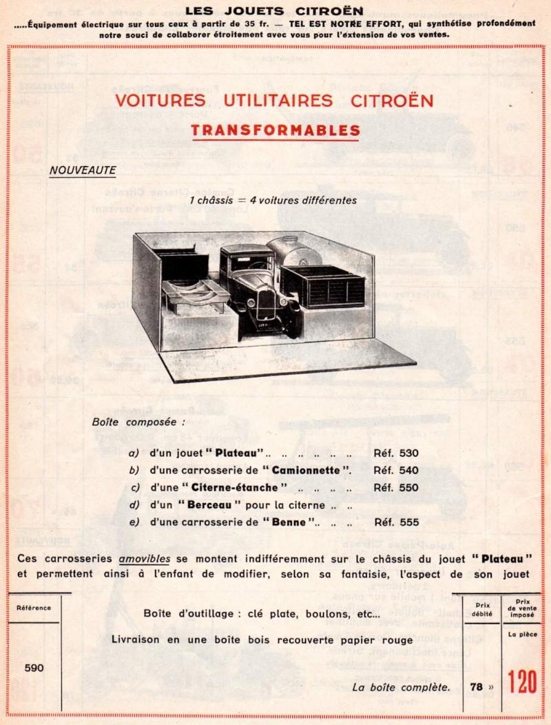 Citroën, les jouets : catalogue 1935 Tarif_18