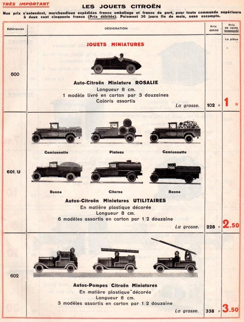 Citroën, les jouets : catalogue 1935 Tarif_19
