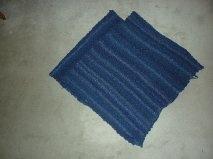 Ponchos tricotés main Bleu_b10