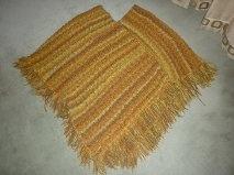 Ponchos tricotés main Frange10
