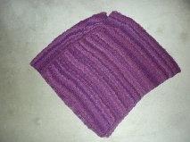 Ponchos tricotés main Violet10