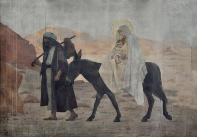 Vingt-deux toiles sur la vie de Marie, par l'artiste Joseph Aubert (1849-1924). 10_par10