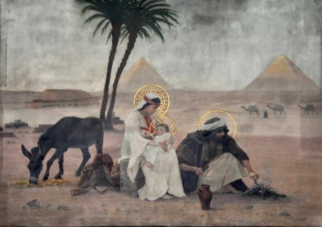 Vingt-deux toiles sur la vie de Marie, par l'artiste Joseph Aubert (1849-1924). 11_par10