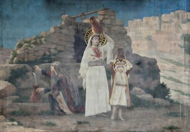 Vingt-deux toiles sur la vie de Marie, par l'artiste Joseph Aubert (1849-1924). 12_par10