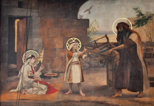 Vingt-deux toiles sur la vie de Marie, par l'artiste Joseph Aubert (1849-1924). 13_par10