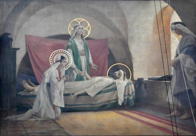 Vingt-deux toiles sur la vie de Marie, par l'artiste Joseph Aubert (1849-1924). 14_par10