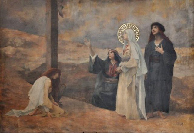 Vingt-deux toiles sur la vie de Marie, par l'artiste Joseph Aubert (1849-1924). 15_par10