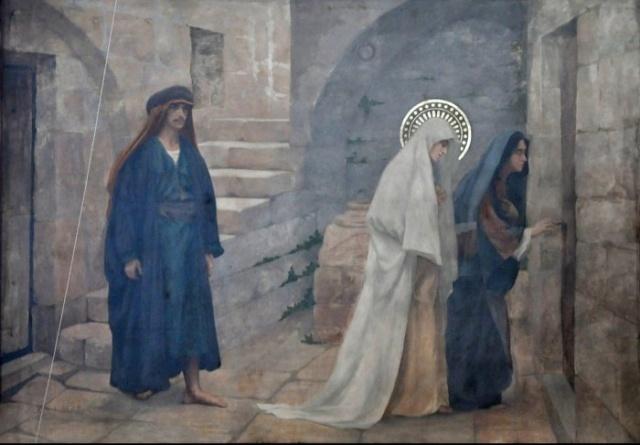 Vingt-deux toiles sur la vie de Marie, par l'artiste Joseph Aubert (1849-1924). 16_par10