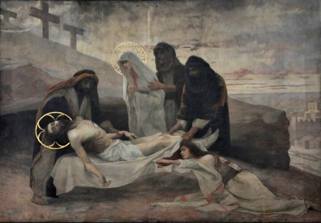 Vingt-deux toiles sur la vie de Marie, par l'artiste Joseph Aubert (1849-1924). 17_par10