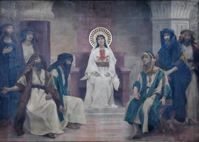 Vingt-deux toiles sur la vie de Marie, par l'artiste Joseph Aubert (1849-1924). 18_par10