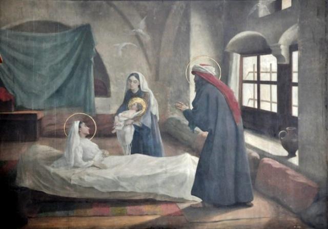 Vingt-deux toiles sur la vie de Marie, par l'artiste Joseph Aubert (1849-1924). 1_parn10