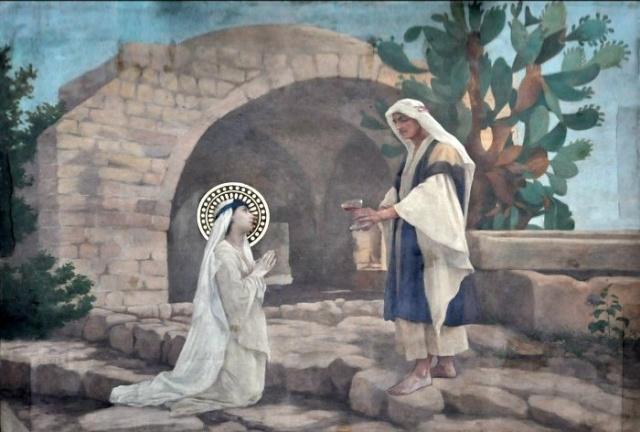 Vingt-deux toiles sur la vie de Marie, par l'artiste Joseph Aubert (1849-1924). 20_par10