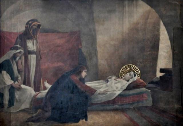 Vingt-deux toiles sur la vie de Marie, par l'artiste Joseph Aubert (1849-1924). 21_par10