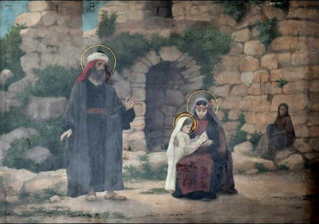 Vingt-deux toiles sur la vie de Marie, par l'artiste Joseph Aubert (1849-1924). 2_parn11