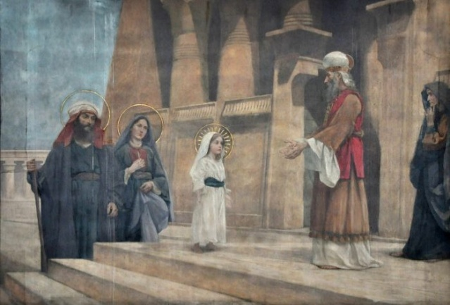 Vingt-deux toiles sur la vie de Marie, par l'artiste Joseph Aubert (1849-1924). 3_parn10