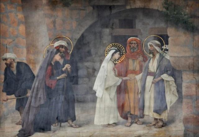 Vingt-deux toiles sur la vie de Marie, par l'artiste Joseph Aubert (1849-1924). 4_parn10