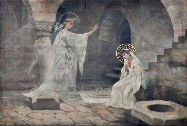 Vingt-deux toiles sur la vie de Marie, par l'artiste Joseph Aubert (1849-1924). 5_parn10