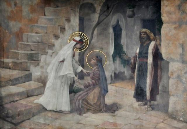 Vingt-deux toiles sur la vie de Marie, par l'artiste Joseph Aubert (1849-1924). 6_parn10