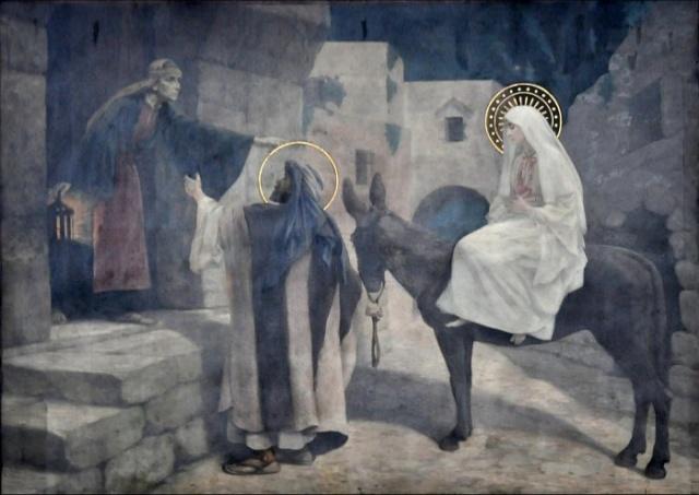 Vingt-deux toiles sur la vie de Marie, par l'artiste Joseph Aubert (1849-1924). 7_parn10