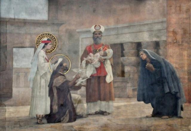 Vingt-deux toiles sur la vie de Marie, par l'artiste Joseph Aubert (1849-1924). 9_parn10