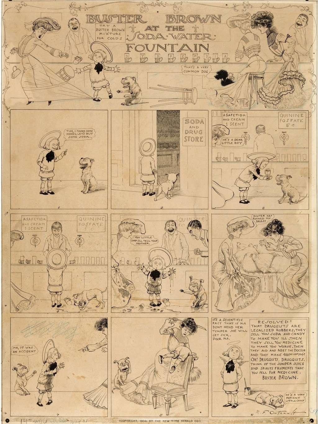 Les facéties de Buster Brown - Page 2 Outcau11