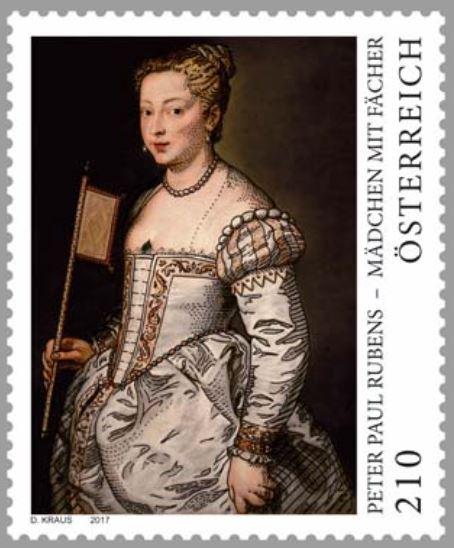 """Sondermarke """"Peter Paul Rubens - Mädchen mit Fächer"""" 1007_r10"""