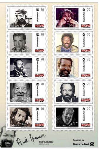Briefmarken - Briefmarken mit Bud Spencer Bud10