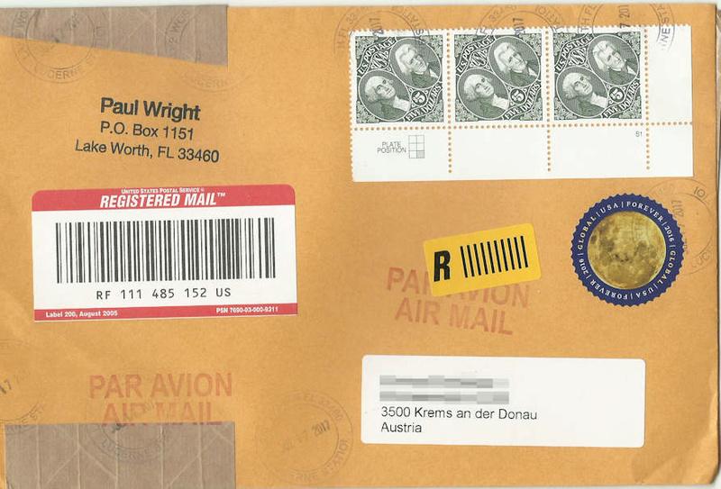 USA Forever - runde Briefmarke Global10