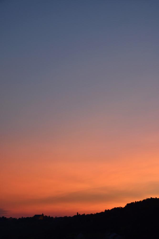 Coucher de soleil dimanche soir, derrière l'église de Haute-Kontz : _dsc3310