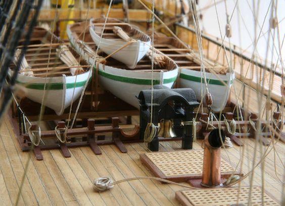 Plans d'un longboat et autres ship's boats vers 1760-1780 Victor10