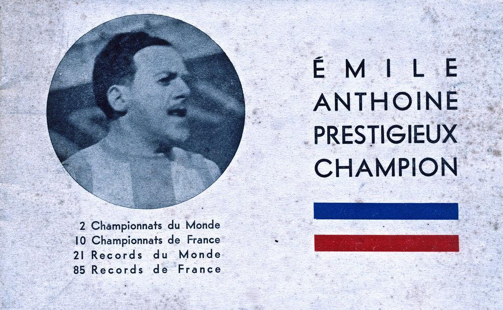 Emile ANTHOINE créateur de l'épreuve  Numeir15