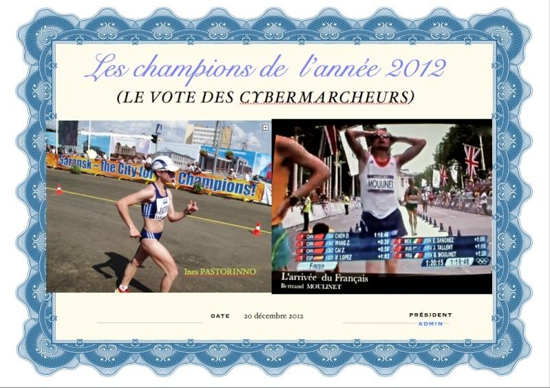 Ines pastorino marcheuse de l'année 2012 Vote_c10