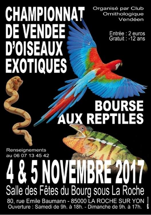 Bourse Reptiles & Oiseaux la Roche sur Yon 04/05 Novembre 2017 La-roc10