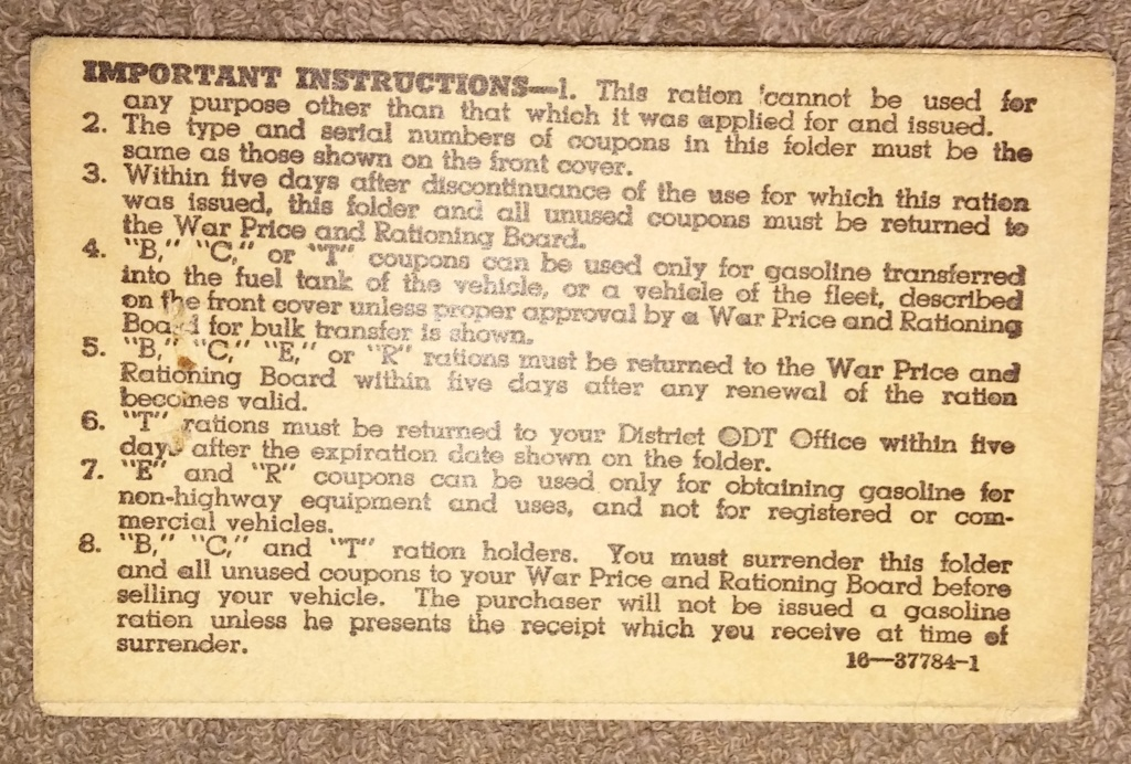 WW2 Rationing 19700112