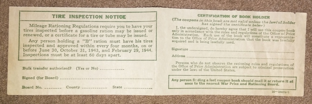 WW2 Rationing 19700115