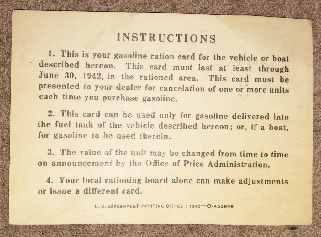 WW2 Rationing 19700121