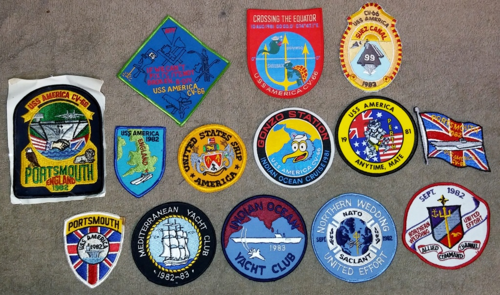 USS America (CV-66) Cruise Patches 19700217
