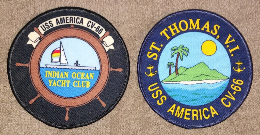 USS America (CV-66) Cruise Patches 19700221