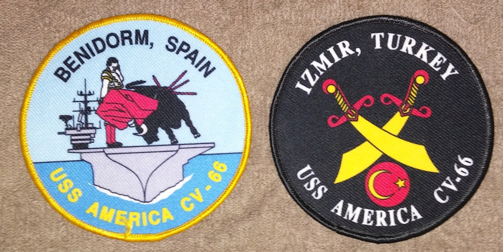 USS America (CV-66) Cruise Patches 19700222
