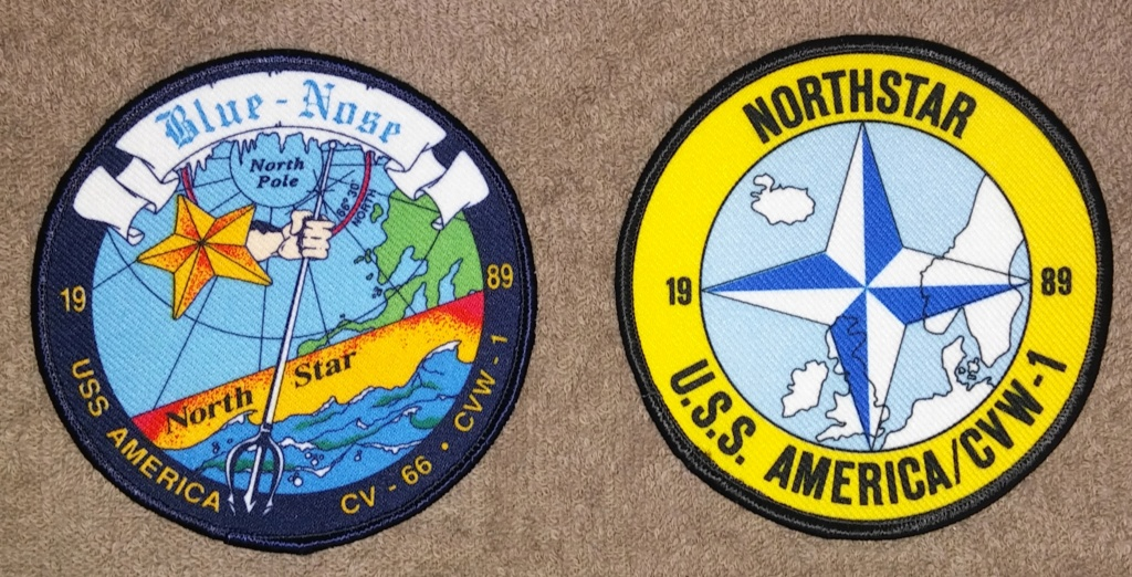 USS America (CV-66) Cruise Patches 19700223