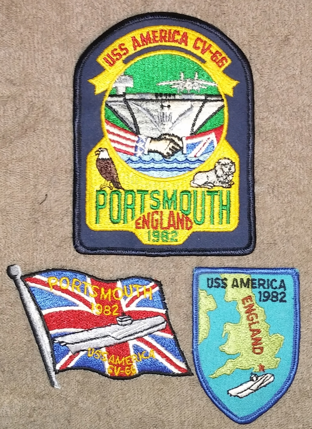 USS America (CV-66) Cruise Patches 19700224