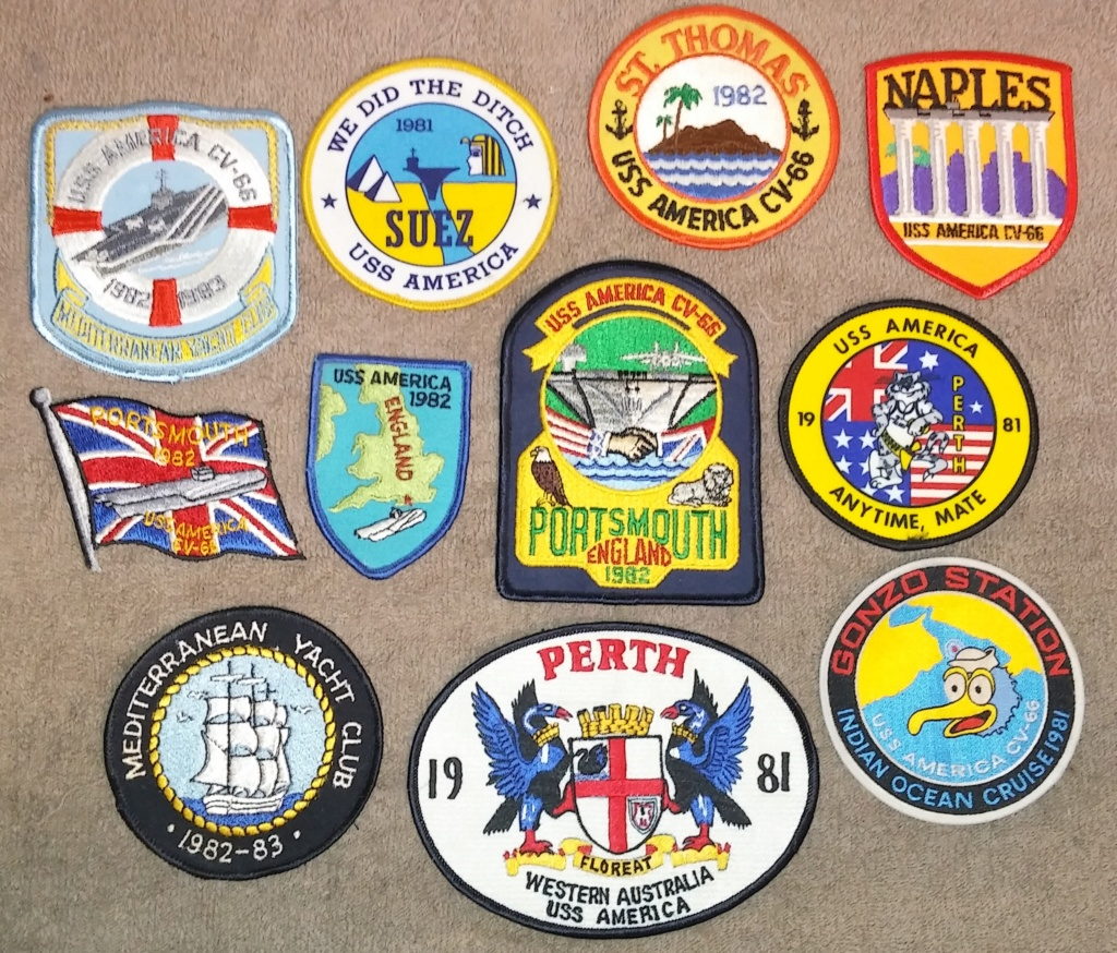 USS America (CV-66) Cruise Patches 19700226